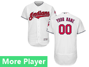 Mens Majestic Cleveland Indians White Flex Base Jersey