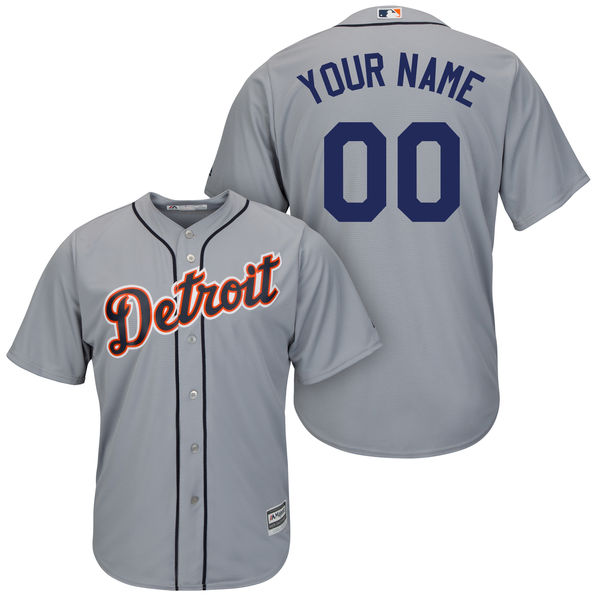 Mens Majestic Detroit Tigers Gray Cool Base Jersey