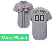 Mens Majestic Detroit Tigers Gray Flex Base Jersey