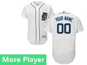 mens majestic detroit tigers white Flex Base jersey