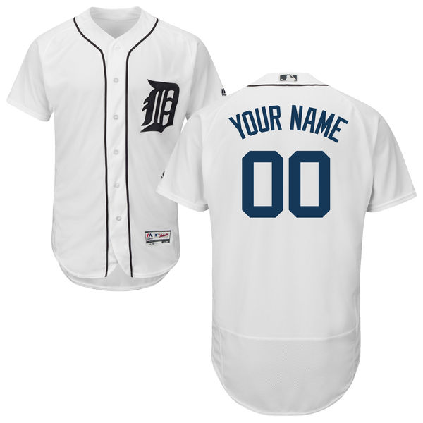 Mens Majestic Detroit Tigers White Flex Base Jersey