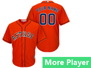Mens Majestic Houston Astros Orange Cool Base Jersey