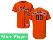 Mens Majestic Houston Astros Orange Flex Base Jersey