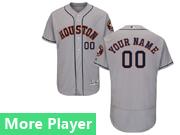 Mens Majestic Houston Astros Gray Flex Base Jersey