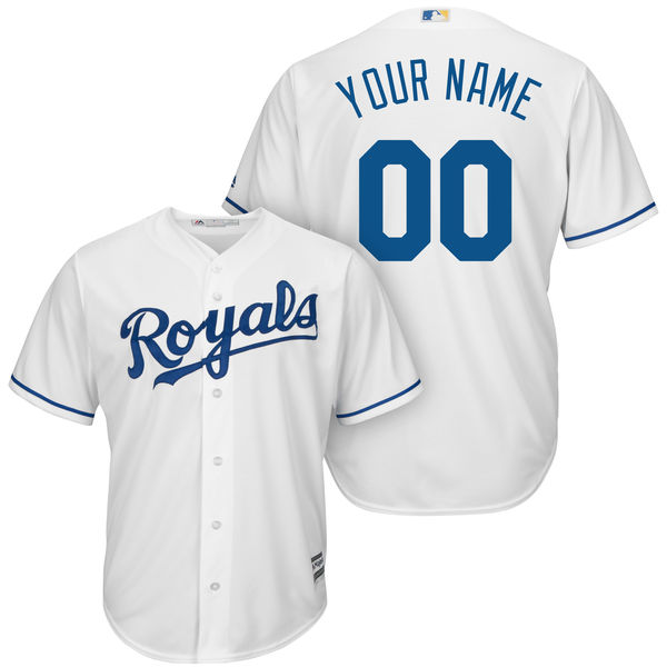 Mens Womens Youth Majestic Kansas City Royals White Cool Base Jersey