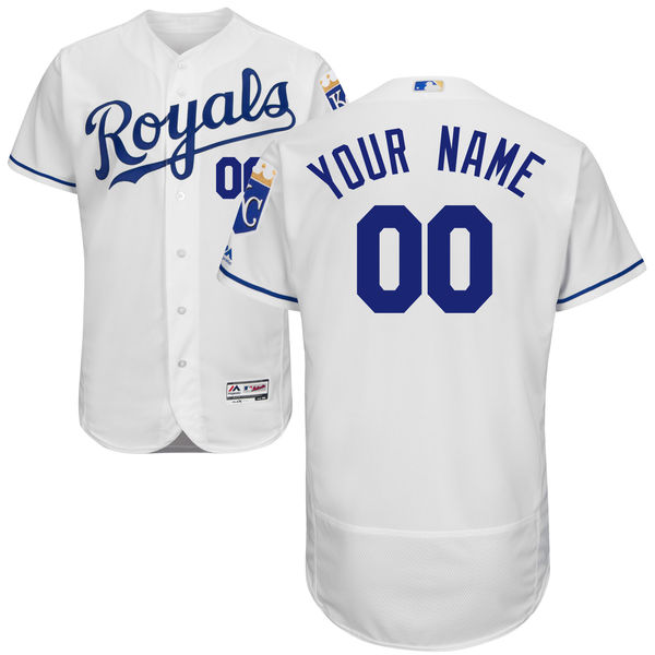 Mens Majestic Kansas City Royals White Flexbase Collection Jersey