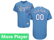 Mens Majestic Kansas City Royals Light Blue Flex Base Jersey