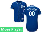 Mens Majestic Kansas City Royals Navy Blue Flex Base Jersey