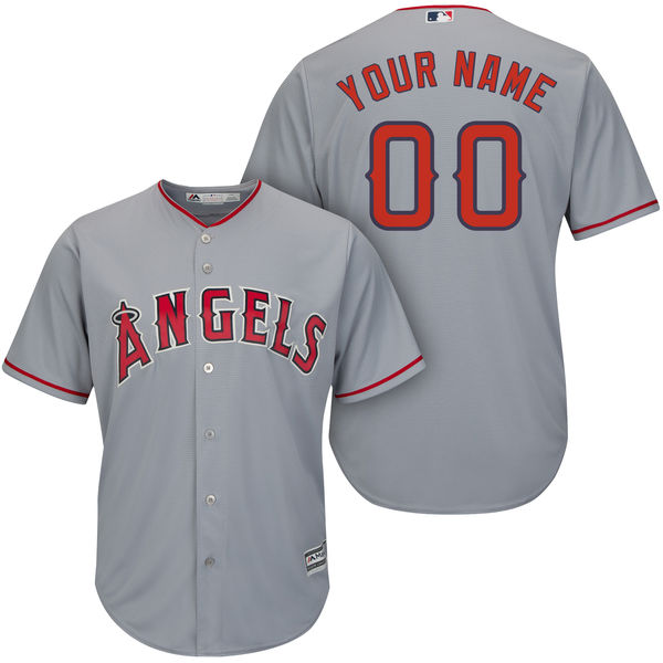 Mens Majestic Los Angeles Angels Gray Cool Base Jersey