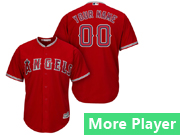 Mens Majestic Los Angeles Angels Red Cool Base Jersey