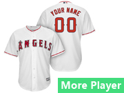 Mens Majestic Los Angeles Angels White Cool Base Jersey