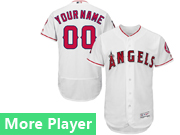 mens majestic los angeles angels white Flex Base jersey