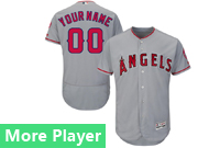 mens majestic los angeles angels gray Flex Base jersey