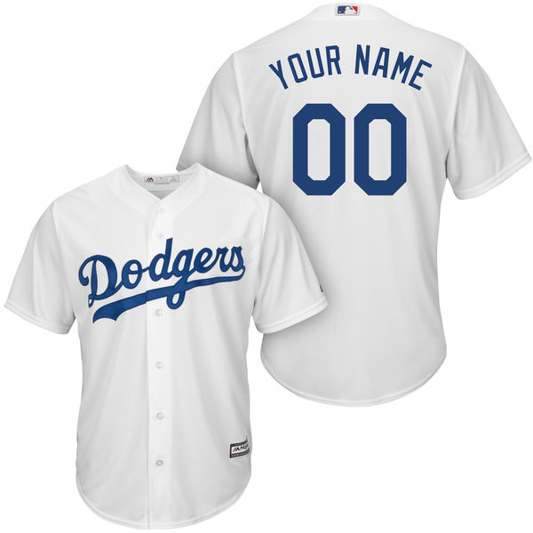 Mens Majestic Los Angeles Dodgers White Cool Base Jersey