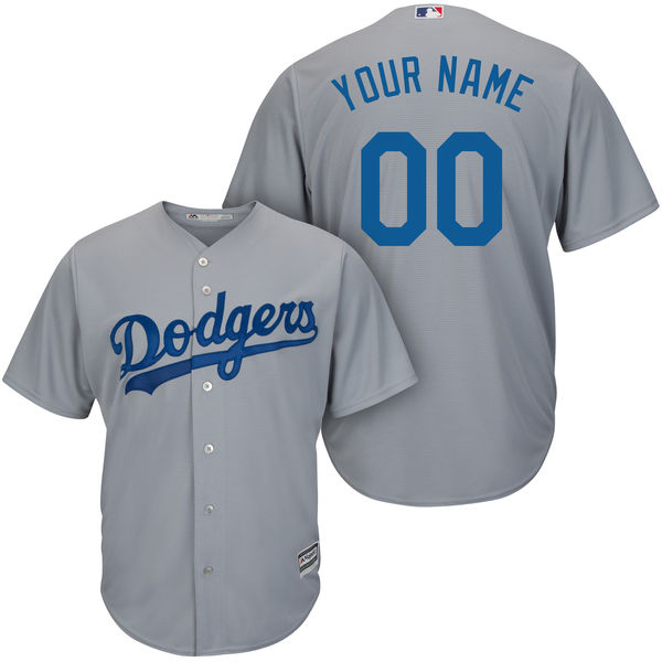 Mens Majestic Los Angeles Dodgers Gray Cool Base Jersey