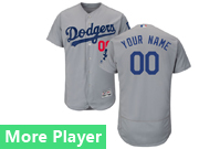 Mens Majestic Los Angeles Dodgers Gray Flex Base Jersey