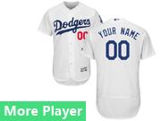 Mens Majestic Los Angeles Dodgers White Flex Base Jersey
