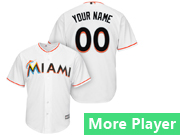 Mens Majestic Miami Marlins White Cool Base Jersey