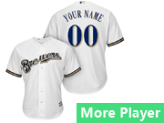 Mens Majestic Milwaukee Brewers White Cool Base Jersey