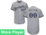Mens Majestic Milwaukee Brewers Gray Flex Base Jersey