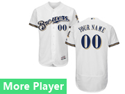 Mens Majestic Milwaukee Brewers White Flex Base Jersey