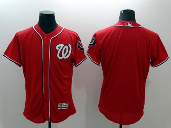 mens majestic washington nationals blank red Flex Base jersey