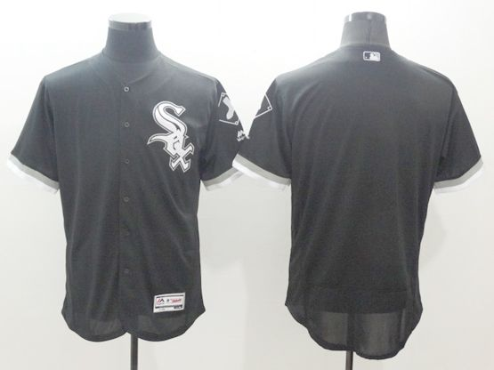 mens majestic chicago white sox blank black Flex Base jersey