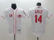 mens majestic cincinnati reds #14 pete rose white Flex Base jersey