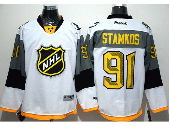 Mens Reebok Nhl Tampa Bay Lightning #91 Steven Stamkos White 2016 All Star Jersey