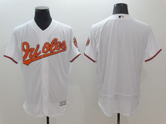 Mens Majestic Baltimore Orioles Blank White Flexbase Collection Jersey