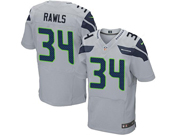 Mens Nfl Seattle Seahawks #34 Thomas Rawls Gray Elite Jersey