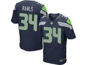 Mens Nfl Seattle Seahawks #34 Thomas Rawls Blue Elite Jersey