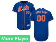 Mens Majestic New York Mets Blue Flex Base Jersey