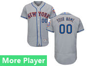 Mens Majestic New York Mets Gray Flex Base Jersey