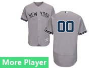 Mens Majestic New York Yankees Gray Flex Base Jersey