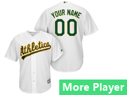 Mens Majestic Oakland Athletics White Cool Base Jersey