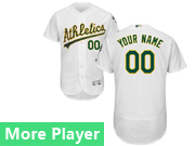 mens majestic oakland athletics white Flex Base jersey