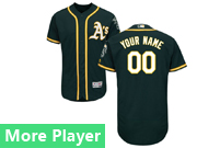 mens majestic oakland athletics dark green Flex Base jersey