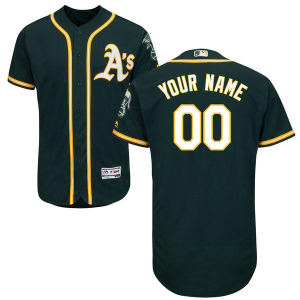Mens Majestic Oakland Athletics Dark Green Flex Base Jersey