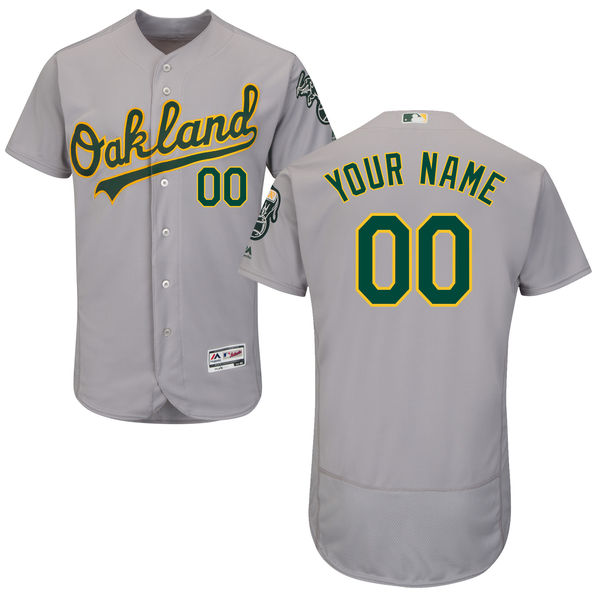 Mens Majestic Oakland Athletics Gray Flex Base Jersey