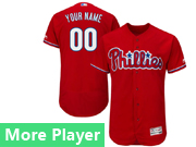 Mens Majestic Philadelphia Phillies Red Flex Base Jersey