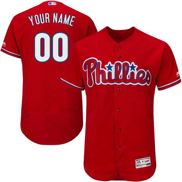 Mens Majestic Philadelphia Phillies Red Flexbase Collection Jersey