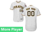 mens majestic pittsburgh pirates white Flex Base jersey