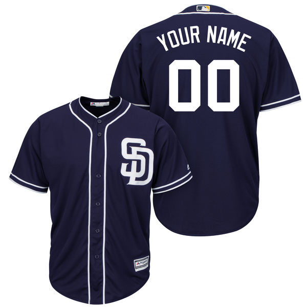 Mens Majestic San Diego Padres Navy Blue Cool Base Jersey