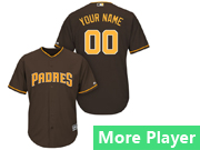 Mens Majestic San Diego Padres Brown Cool Base Jersey