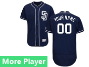 Mens Majestic San Diego Padres Navy Blue Flex Base Jersey