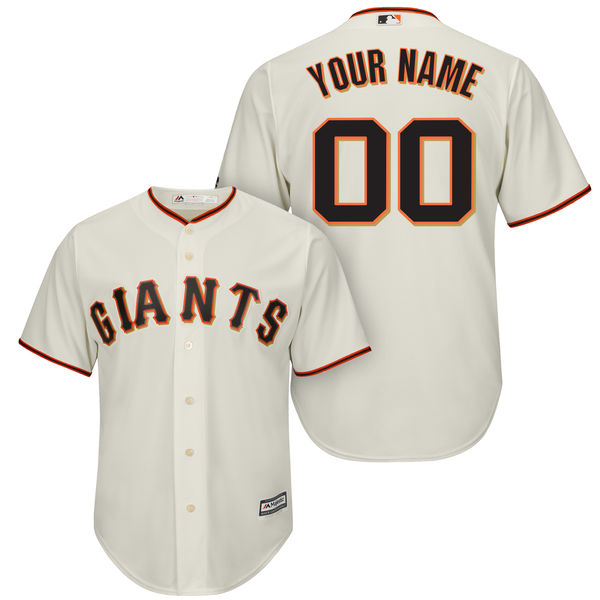 Mens Majestic San Francisco Giants Cream Cool Base Jersey