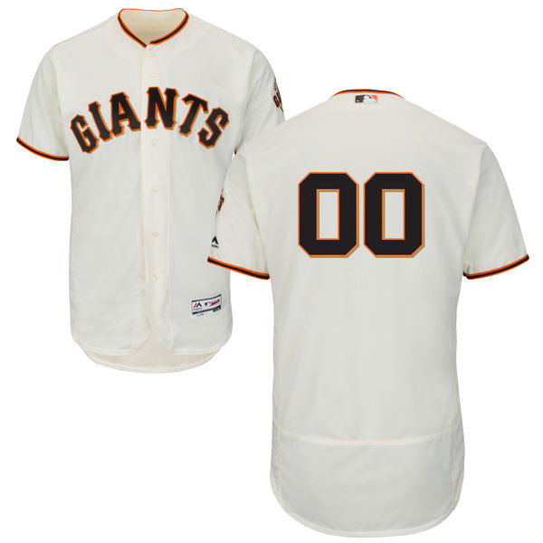 Mens Majestic San Francisco Giants Cream Flex Base Jersey