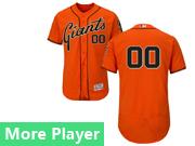 mens majestic san francisco giants orange Flex Base jersey