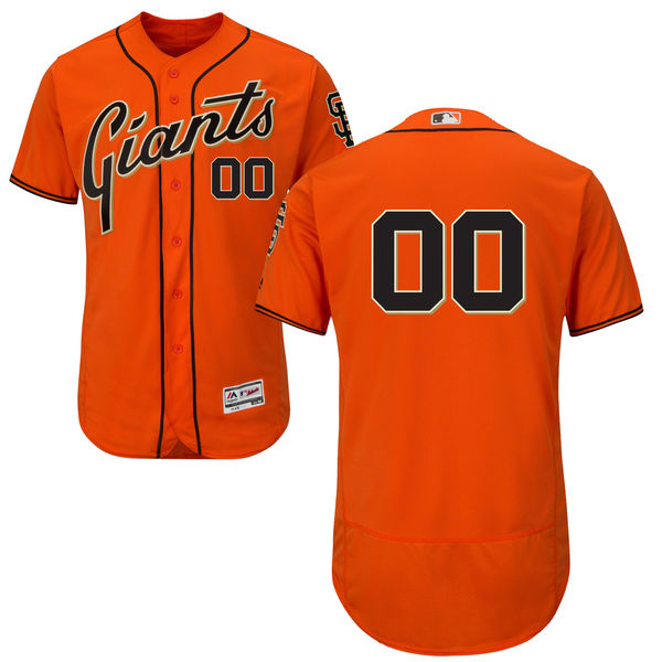 mens majestic san francisco giants orange Flex Base jersey